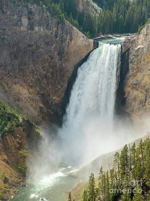 Photograph - Yellowstone Lower Falls by Rod Jones