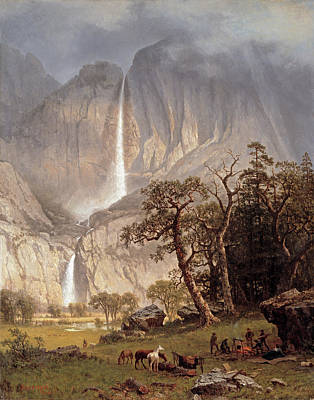 Yosemite Valley Painting - Yosemite Falls by Albert Bierstadt