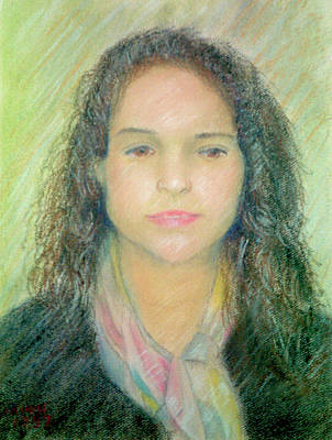 Pastel - Young Woman by Masami Iida