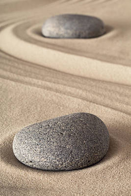 Photograph - Zen Garden Meditation Stone by Dirk Ercken