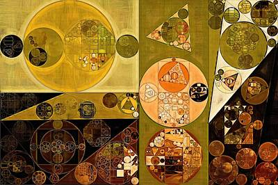 Abstract Painting - Zinnwaldite Brown Art Print
