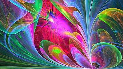 Fractal Geometry Painting - Abstract by Vadim Pavlov