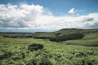 Photograph - Beautiful Vibrant Landscape Image Of Burbage Edge And Rocks In S by Matthew Gibson