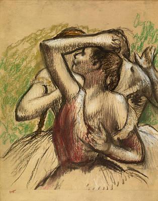 Edgar Degas Wall Art - Painting - Dancers by Edgar Degas