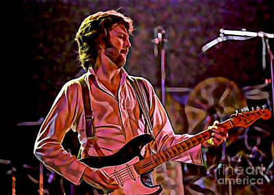Eric Clapton Collection Print by Marvin Blaine