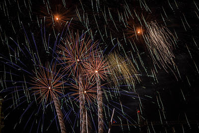 Photograph - Fireworks 2015 Sarasota 8 by Richard Goldman