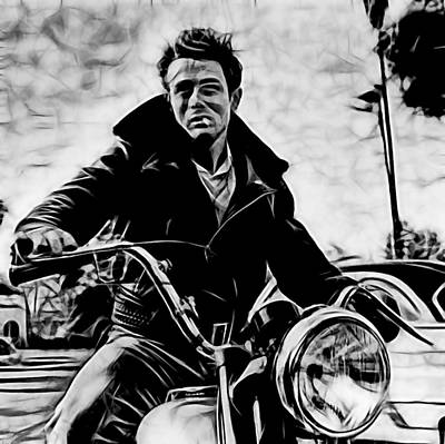 Icons Mixed Media - James Dean Collection by Marvin Blaine