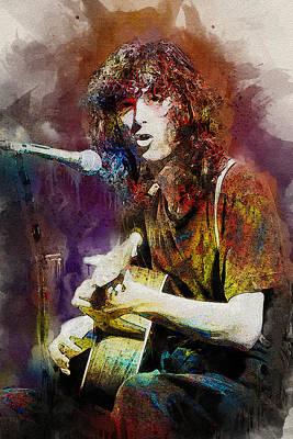 Led Zeppelin Digital Art - Jimmy Page. Led Zeppelin. by Elizabeth Simon