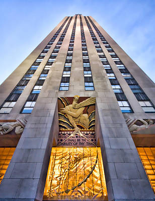 Rockefeller Plaza Photograph - 30 Rock by June Marie Sobrito