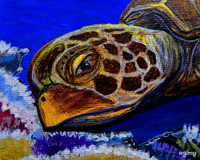 God Wallpapers Painting - Sea Turtle by W Gilroy