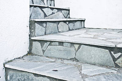 Paving Photograph - Stone Steps by Tom Gowanlock