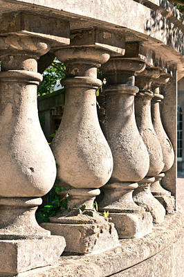 Balusters Photograph - Stone Wall by Tom Gowanlock