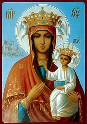 Virgin And Child Art Print by Christian Art