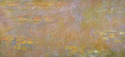 1916 Painting - Waterlilies by Claude Monet