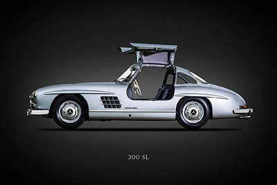 Mercedes Benz 300 Sl Classic Car Photograph - 300 Sl Gullwing 1954 by Mark Rogan