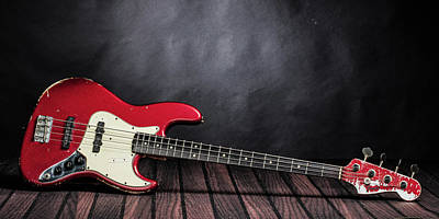 Photograph - 300.1834 Fender Red Jazz Bass 1965 In Color by M K  Miller