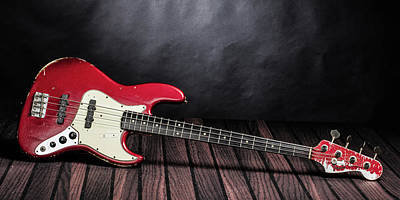 Photograph - 301.1834 Fender Red Jazz Bass 1965 In Color by M K  Miller