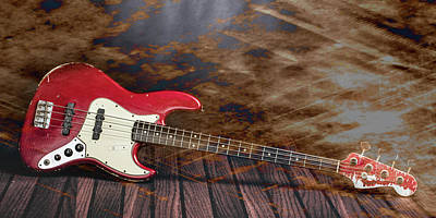 Photograph - 302.1834 Fender Red Jazz Bass 1965 In Color by M K Miller