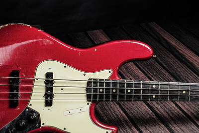 Photograph - 303.1834 Fender Red Jazz Bass 1965 In Color by M K Miller