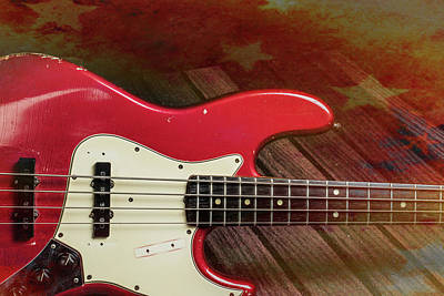 Photograph - 304.1834 Fender Red Jazz Bass 1965 In Color by M K Miller