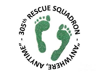 Mixed Media - 305th Rescue Squadron by Zorro Lopez