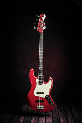 Photograph - 306.1834 Fender Red Jazz Bass 1965 In Color by M K  Miller