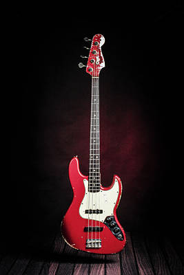 Photograph - 307.1834 Fender Red Jazz Bass 1965 In Color by M K Miller