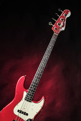 Photograph - 309.1834 Fender Red Jazz Bass 1965 In Color by M K Miller