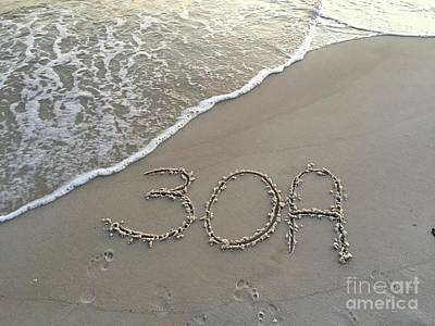 30a Beach Art Print by Megan Cohen
