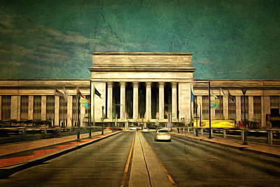 Art Print featuring the mixed media 30th Street Station Traffic by Trish Tritz