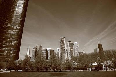Americas Playground Photograph - Chicago Skyline by Frank Romeo