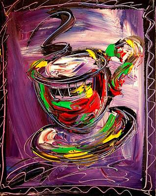 Water Sports Poster Painting - Coffee by Mark Kazav
