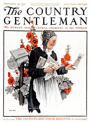 Magazine Letters Photograph - Cover Of Country Gentleman Agricultural by Remsberg Inc