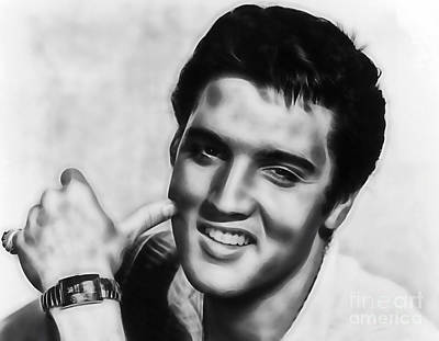 Elvis Presley Mixed Media - Elvis Presley Collection by Marvin Blaine
