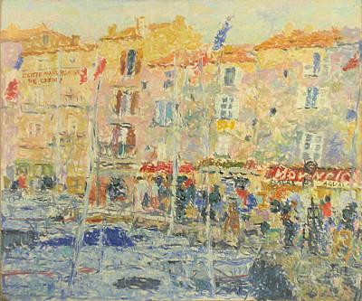 Saint Tropez Painting - Yachts by Robert Nizamov