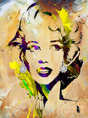 Celebrity Mixed Media - Marilyn Monroe Collection by Marvin Blaine