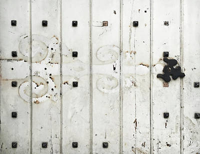 Rivets Photograph - Old Door  by Tom Gowanlock