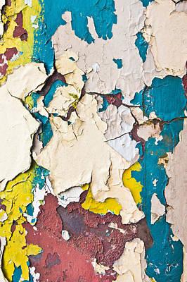 Oxidation Photograph - Peeling Paint by Tom Gowanlock