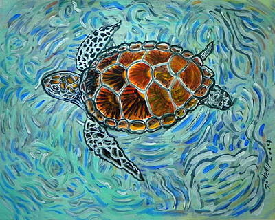 Sea Turtles Painting - Sea Turtle Print by W Gilroy