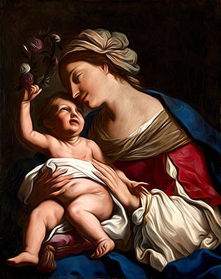 Virgin And Child Painting Art Print by Christian Art