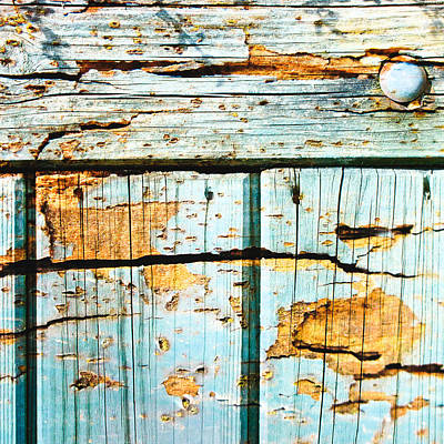 Old Plank Tables Photograph - Wooden Background by Tom Gowanlock