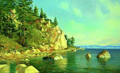 Landscapes Painting - Nature Landscape Lighting by Edna Wallen