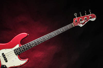 Photograph - 310.1834 Fender Red Jazz Bass 1965 In Color by M K Miller