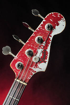 Photograph - 311.1834 Fender Red Jazz Bass 1965 In Color by M K Miller