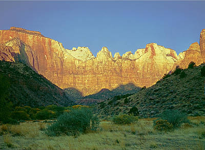 Photograph - 312407 Zion Np At Sunset by Ed Cooper Photography