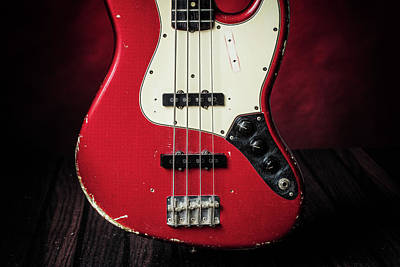 Photograph - 315.1834 Fender Red Jazz Bass 1965 In Color by M K  Miller