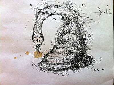 Pen And Ink Drawing Mixed Media - 3161 Feeling Slow Original by Mark M  Mellon