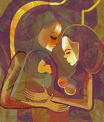Sweet Digital Art - 317 - Women - Child    by Irmgard Schoendorf Welch