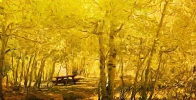 Winter Painting - Nature Art Landscape by Margaret J Rocha