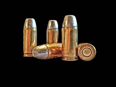 Photograph - 32 Caliber Bullet Print by Lesa Fine